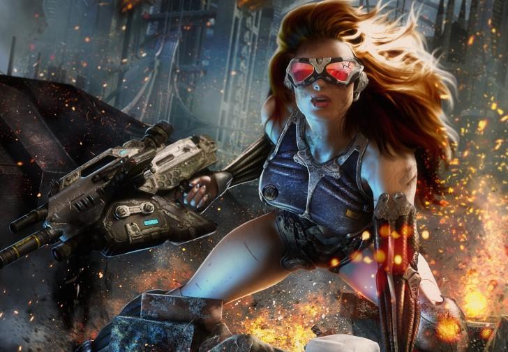 ゲーム、Crysisの、女の子-728x505
