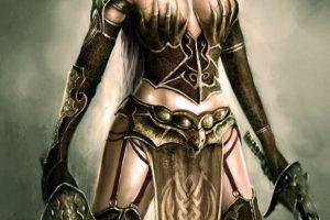 Swords instead of hands. Hands instead of breasts. (#sexy)