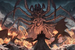 Fantasy Creature Monster Spider Demons Wings Fire